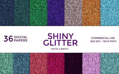 Shiny Glitter Digital Paper Pack