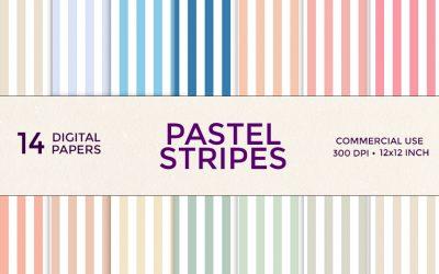 Spring Pastel Stripes Digital Paper