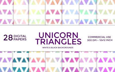 Unicorn Triangles Digital Paper