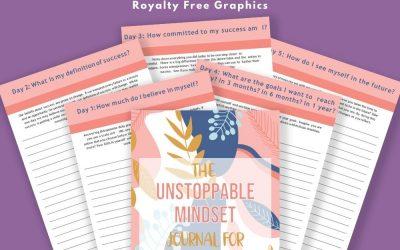 Unstoppable Mindset Journal for Entrepreneurs   Commercial Use