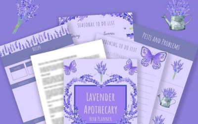 Lavender Apothecary Herb Planner