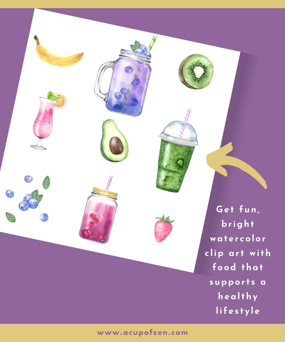 Detox Your Body Clip Art Watercolor Graphics