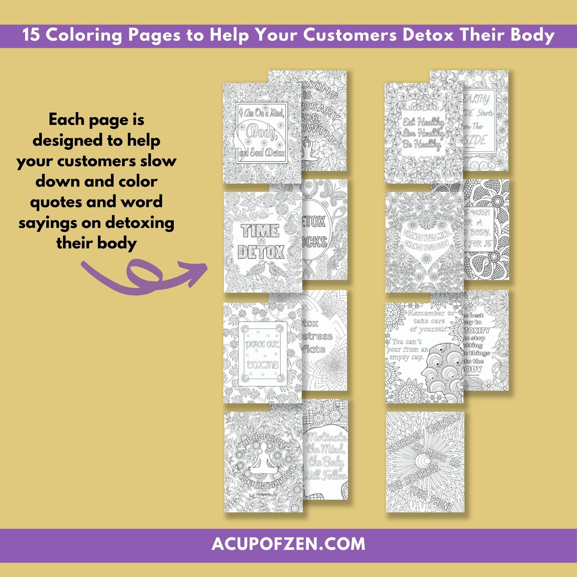 Detox Your Body Coloring Pages