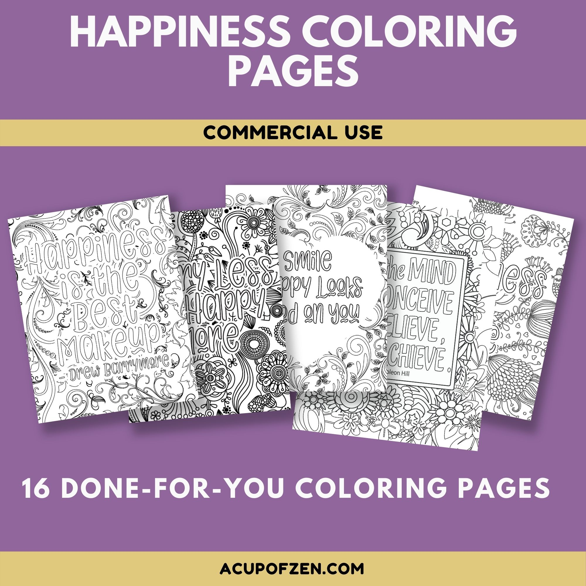 Happiness Coloring Pages