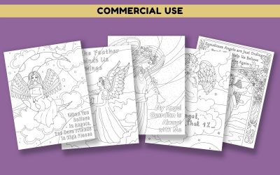 Angel Coloring Pages with Quotes