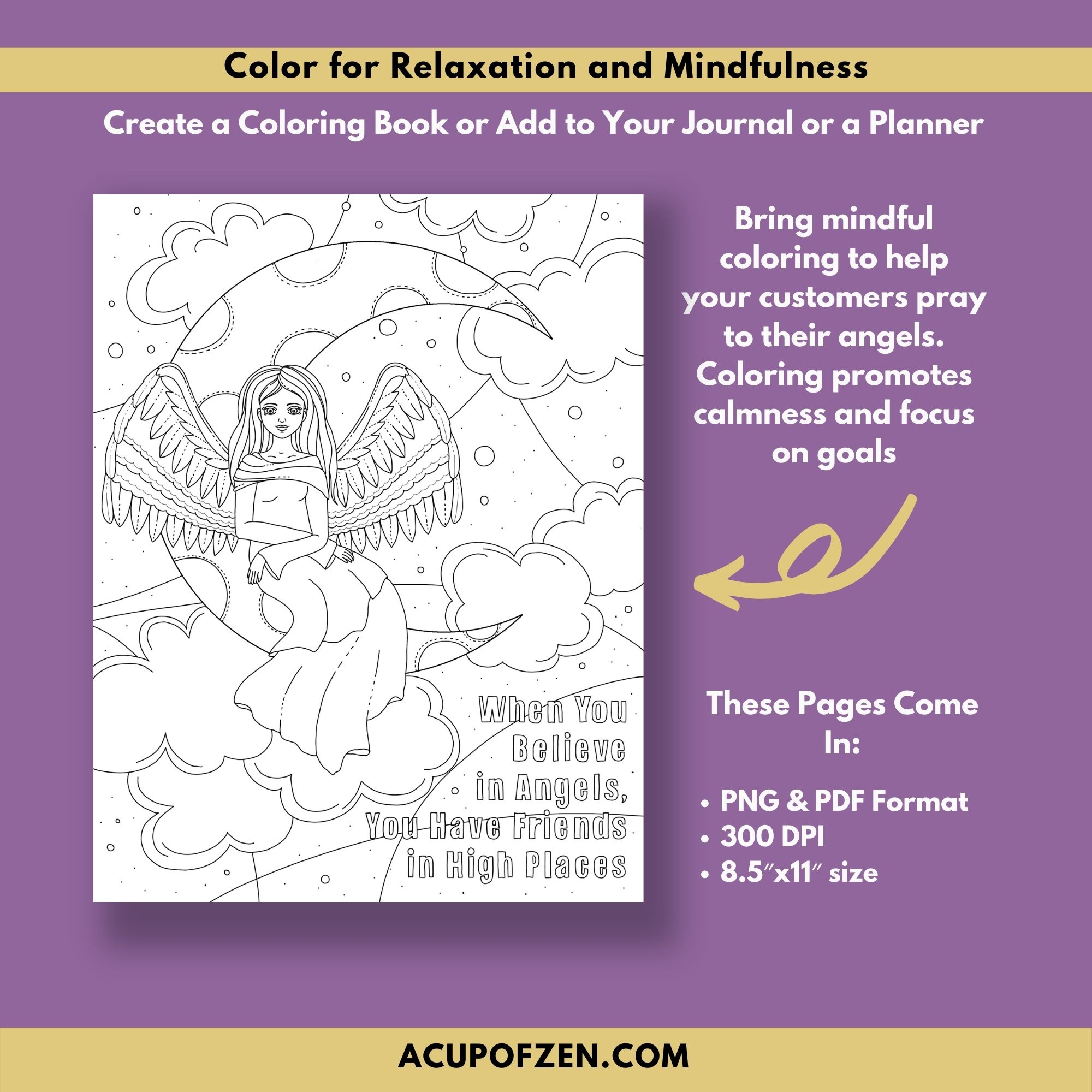 Angels Coloring Pages - Commercial Use