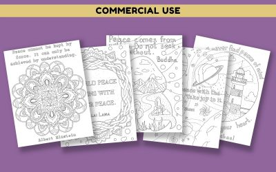 Peace Quotes Coloring Pages