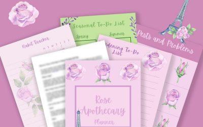 Rose Apothecary Garden Planner