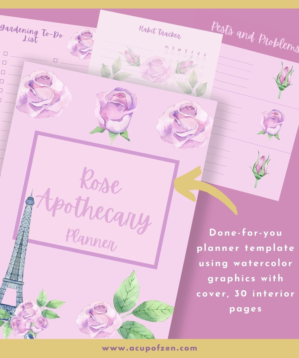 Rose Apothecary Garden Planner Commercial Use