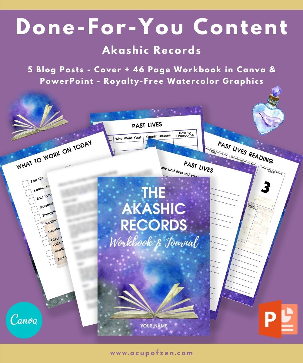 Akashic Records Workbook Commercial Use Templates