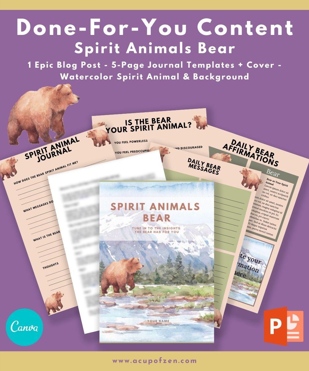 Bear Spirit Animals Blog Post & Watercolor Graphics