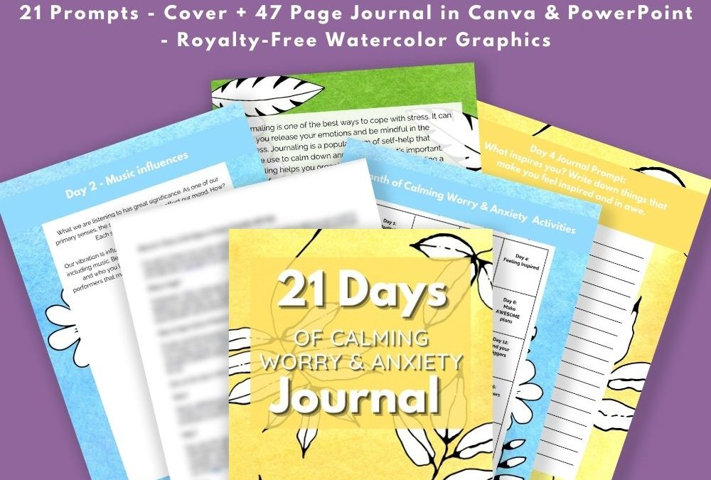 Calming Worry & Anxiety Journal