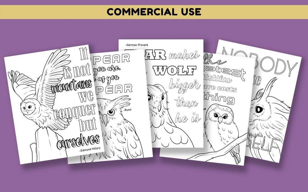 Owl & Motivational Quotes Coloring Pages