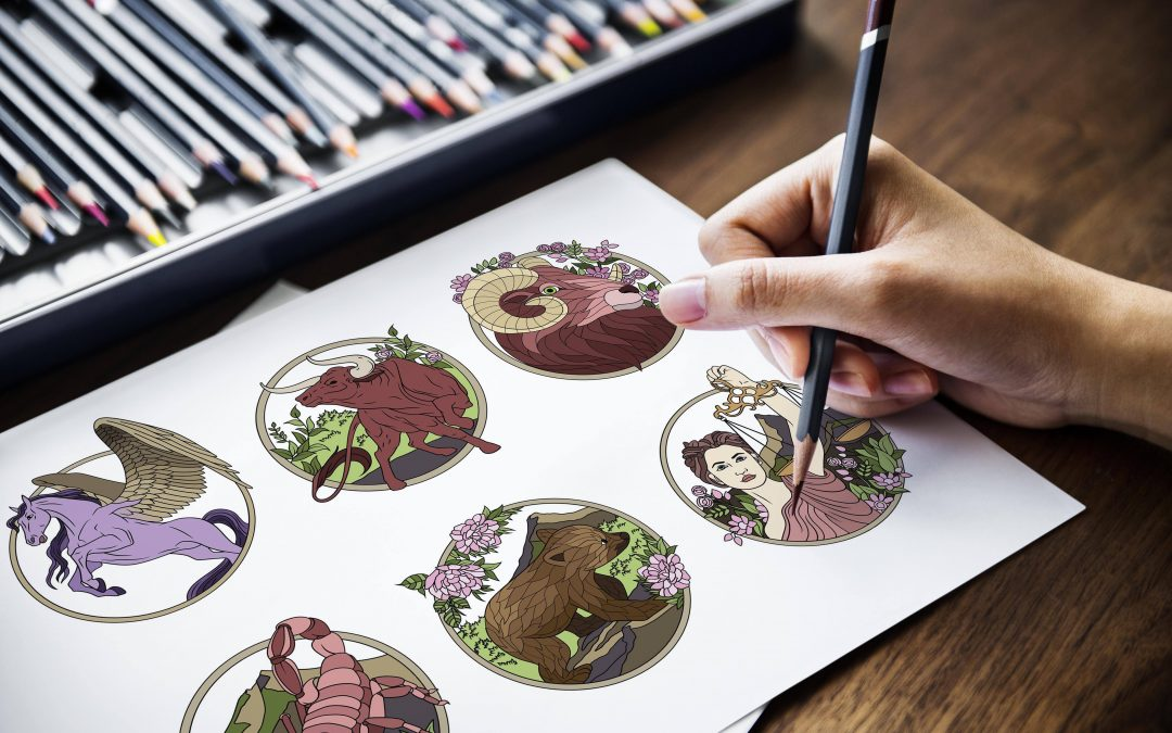 Bonuses for Zodiac & Constellations Coloring Package