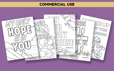 Faith Based Quotes & Bible Verses Coloring Pages