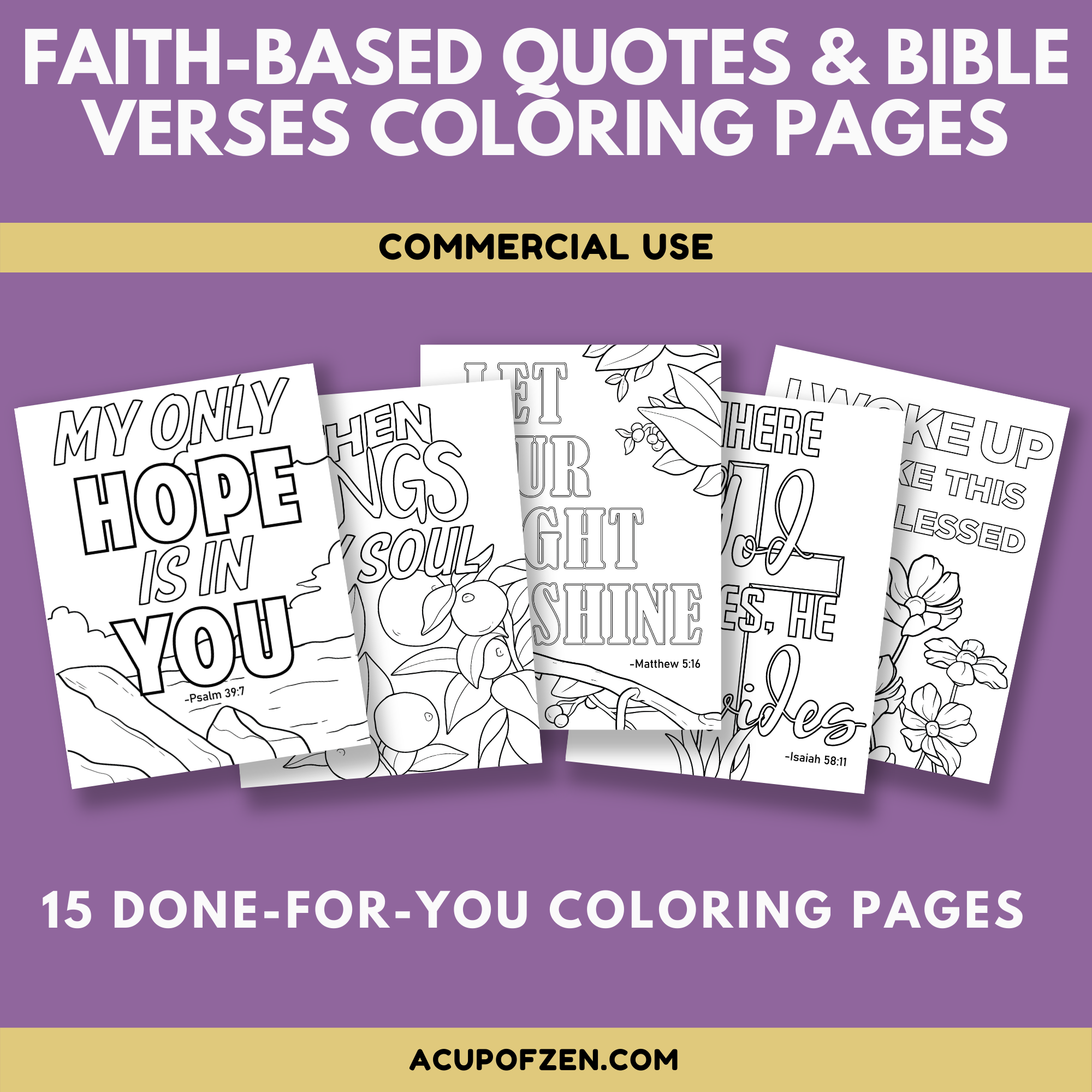 Faith Based & Bible Quotes Coloring Pages