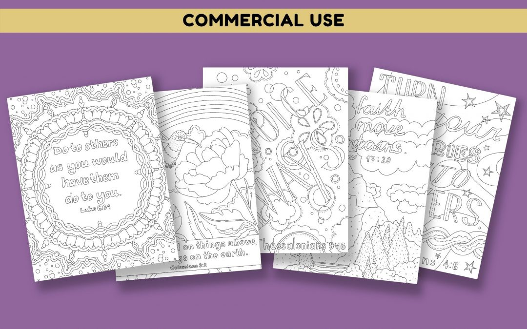 Faith Based Quotes & Bible Verses Coloring Pages Volume 2
