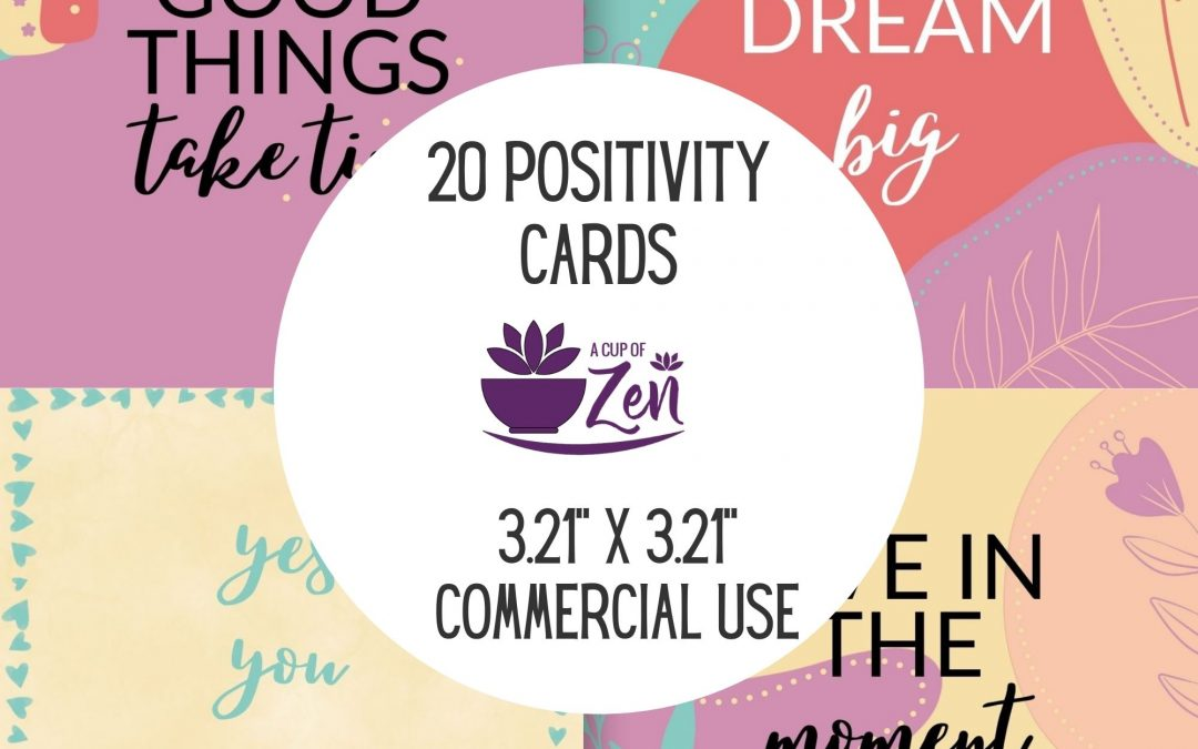 Positive Thinking Card Templates