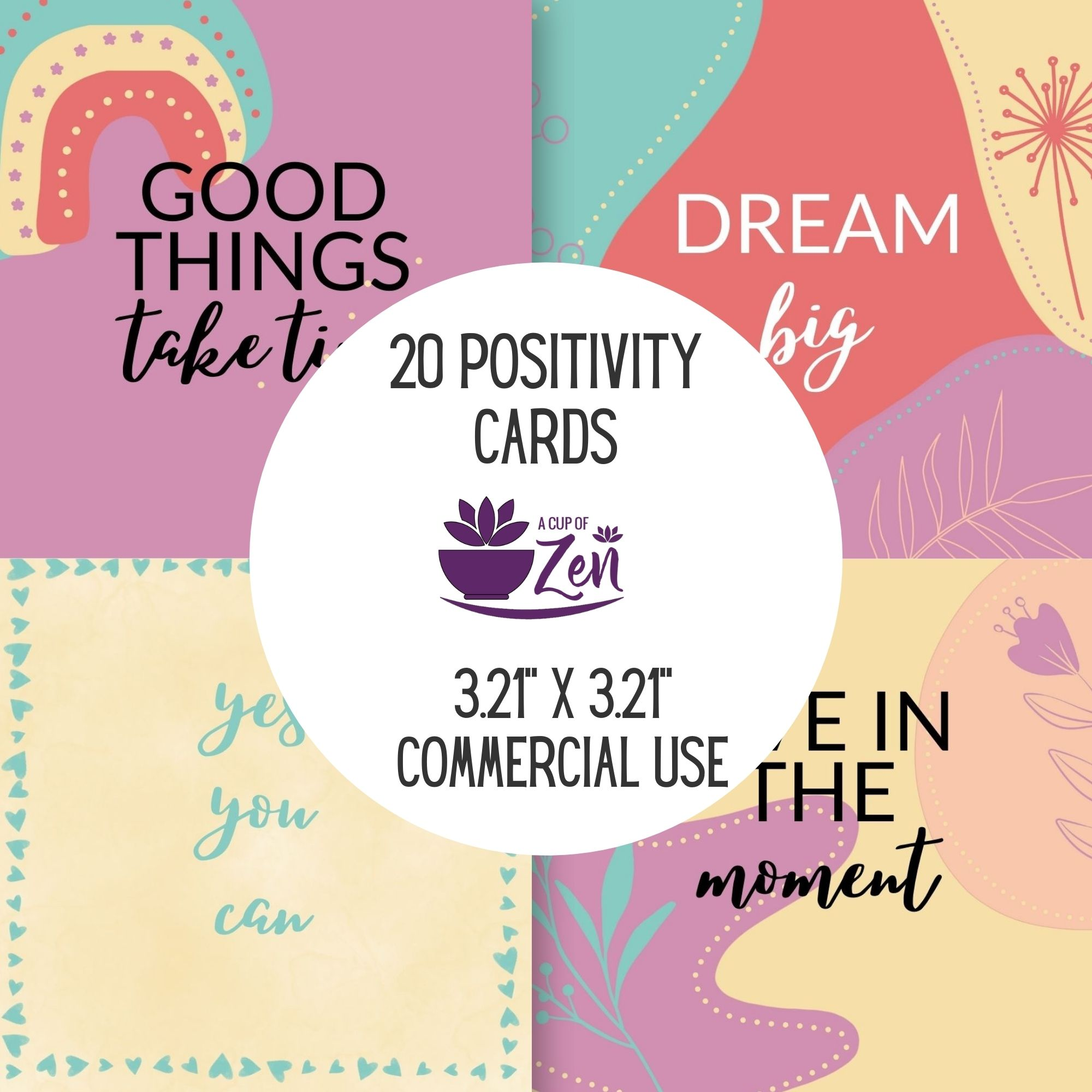 Positivity Cards Commercial Use