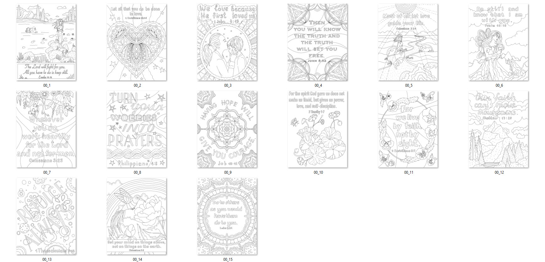 faith based bible quotes coloring pages