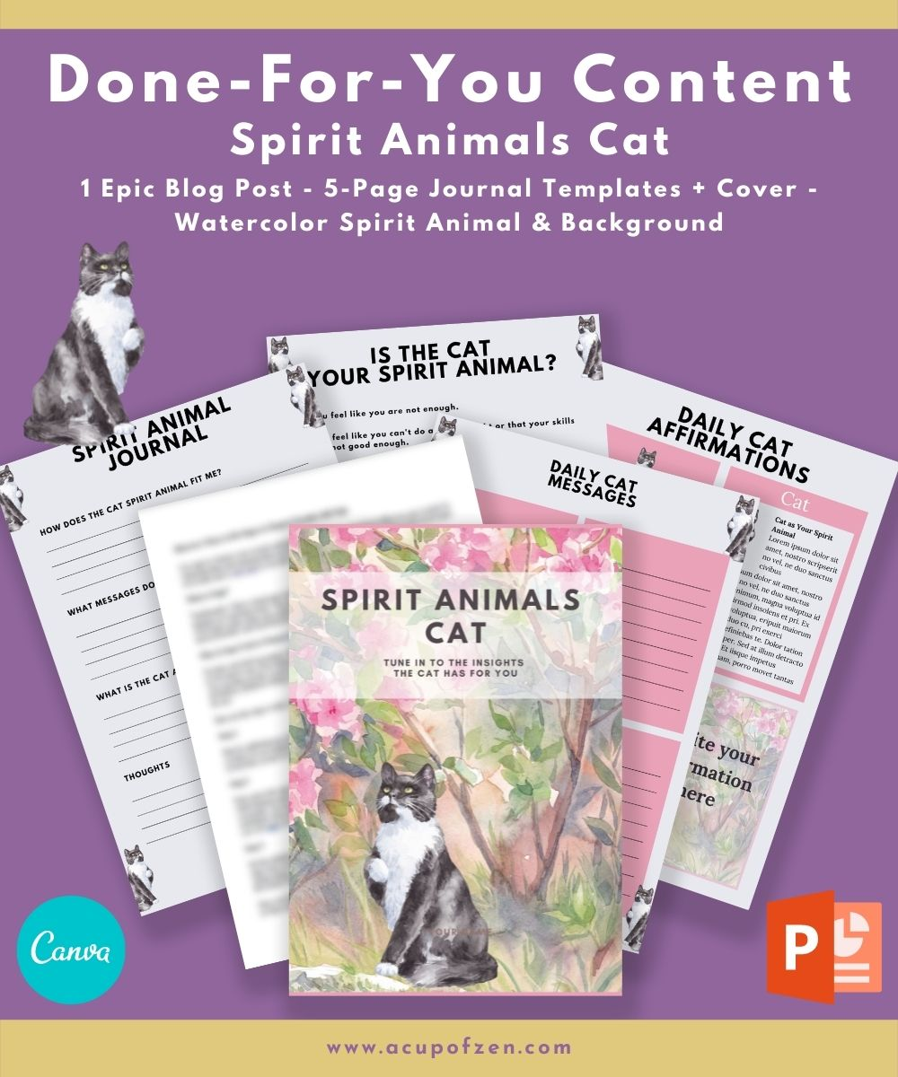 Spirit Animals Cat Commercial Use Journal