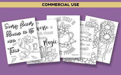 Plant and Flower Coloring Pages