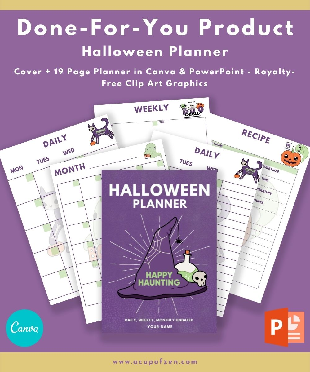 Halloween Themed Planner Commercial Use