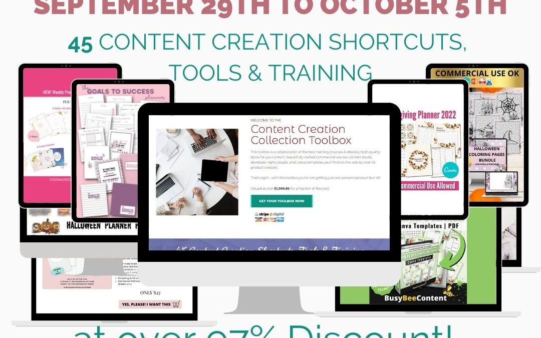 Content Creation Collection ToolBox – Fall 2021